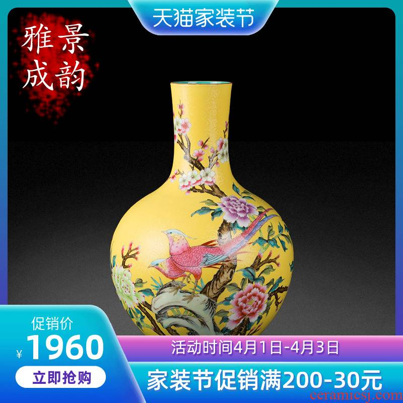 Jingdezhen porcelain enamel decorated bottled act the role ofing is tasted furnishing articles of the new Chinese style household porch archaize porcelain arts and crafts