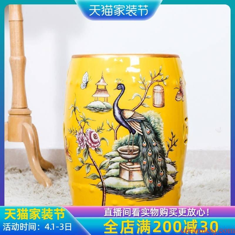 Jingdezhen rural Chinese American ceramic drum who antique drum pier pier show chair who shoes in creative furniture furnishing articles