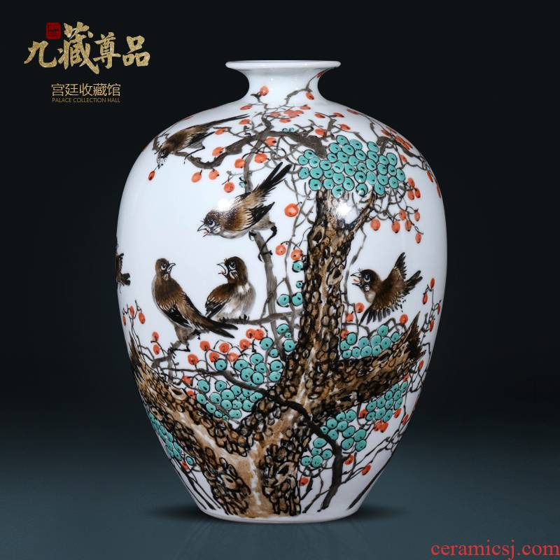 Cixin qiu - yun, hand - made enamel vase of jingdezhen ceramics new Chinese style living room TV cabinet rich ancient frame decorative furnishing articles