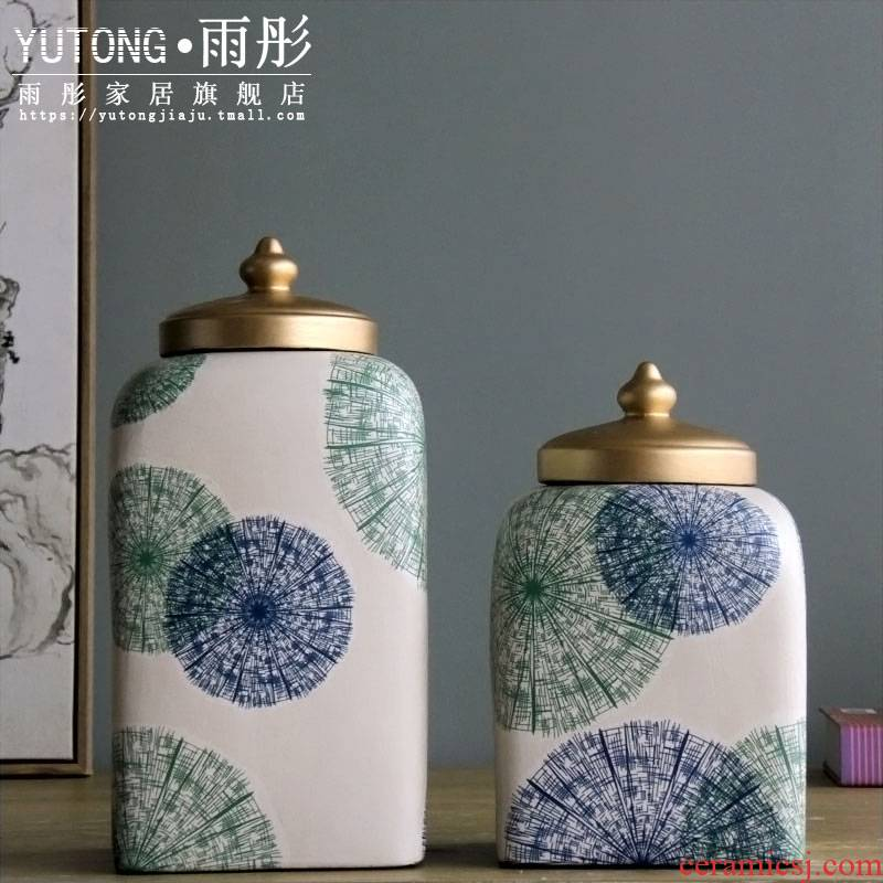 Rain tong home | jingdezhen ceramics European paint painting underwater world ceramic pot home decoration furnishing articles