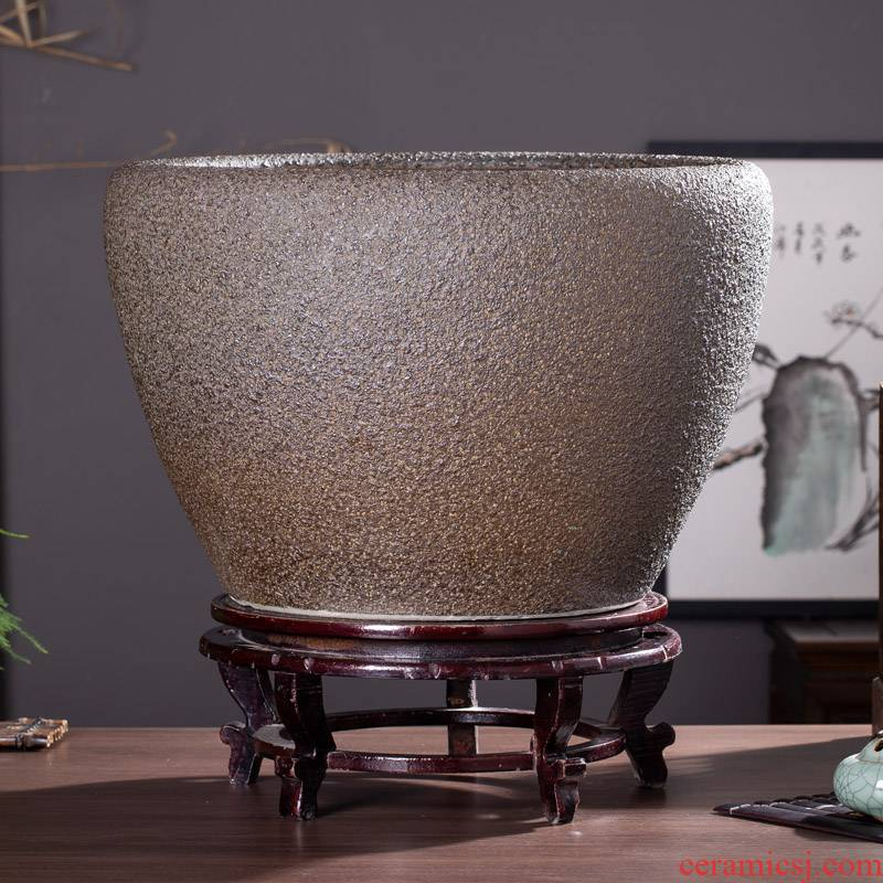 Jingdezhen ceramic checking out sharply glaze up tank large goldfish bowl lotus basin bowl lotus lotus cylinder cylinder tortoise