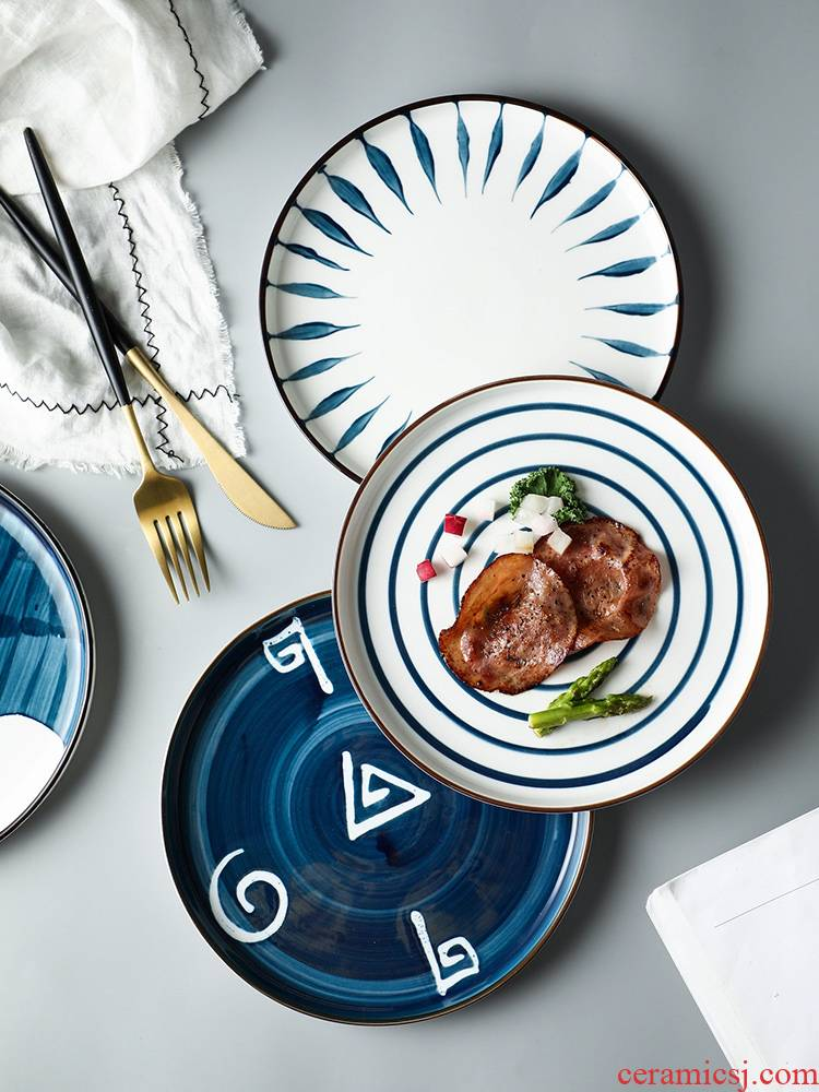 T take a Nordic ceramic plate creative beefsteak tableware informs the web celebrity ins wind dish dish dish for breakfast
