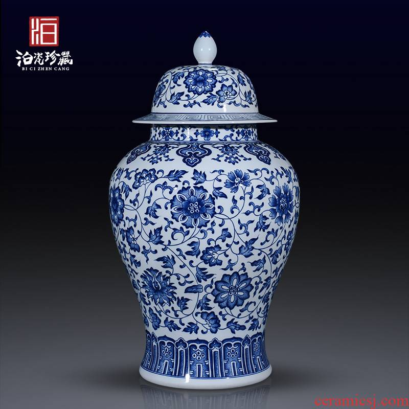 Antique porcelain of jingdezhen ceramics general large jar of new Chinese style home sitting room adornment vase furnishing articles
