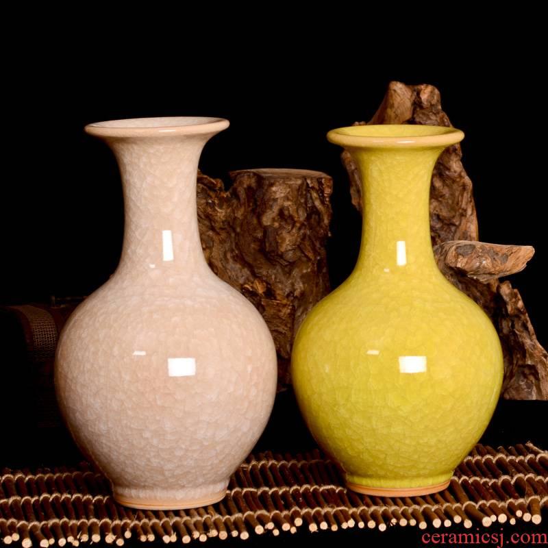 Archaize of jingdezhen ceramic up crack glaze hc - 050 bottles of modern home decoration handicraft furnishing articles sitting room