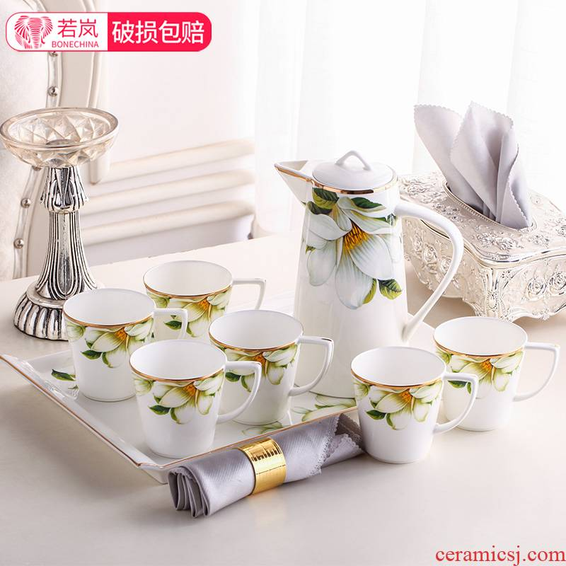 Water cup suit cups of Europe type ceramic Water suit household whole cup tea kettle suit cold cups
