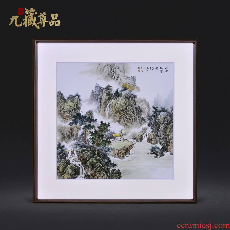 Jingdezhen ceramic dong - Ming li, by drawing on deep and remote figure adornment porcelain plate paintings of Chinese style household decoration