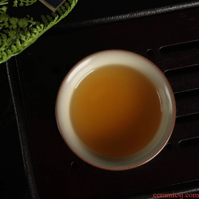 Poly real scene from lard sample tea cup cold brother up with celadon teacup single cup wang wen quality manual glass ceramic tea light small bowl