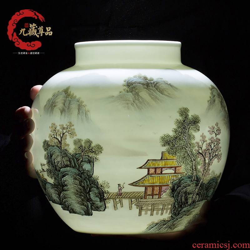 Jingdezhen ceramics shengshi people storage tank decoration decoration crafts soft outfit sitting room between example furnishing articles