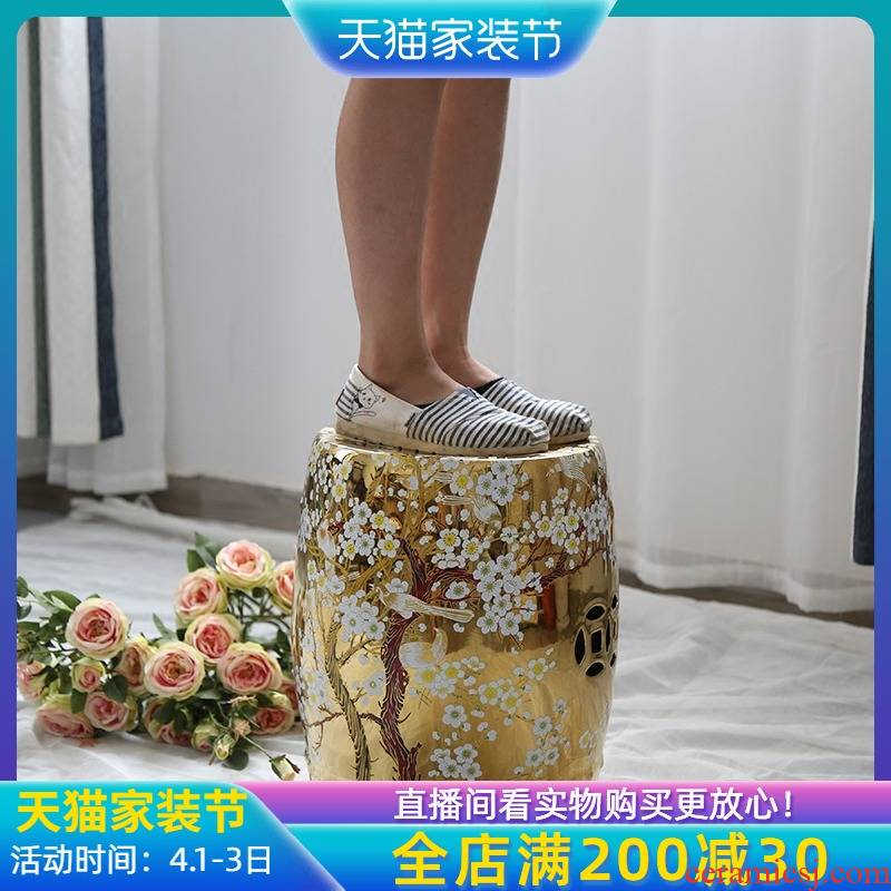 The New Chinese jingdezhen ceramic landing who furnishing articles and what gilded decoration in the sitting room in shoes who bedroom toilet who