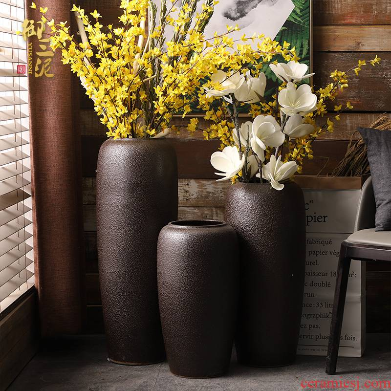 Ground vase POTS restoring ancient ways is I and contracted sitting room flower arranging furnishing articles dried flowers floral household jingdezhen ceramics