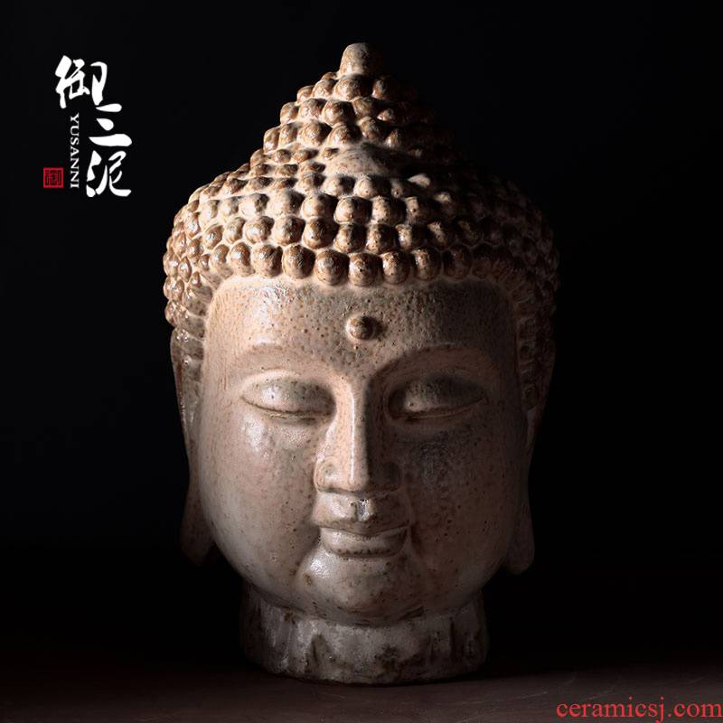 Chinese zen beadle of Buddha amitabha tathagata furnishing articles large Buddha first decorate household ceramics handicraft