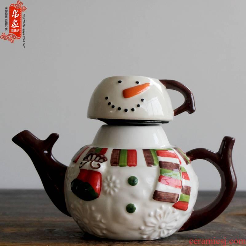 Shadow at home | jingdezhen ceramics continental cold ceramic kettle pot ornament adornment ornament porcelain teapot coloured drawing or pattern