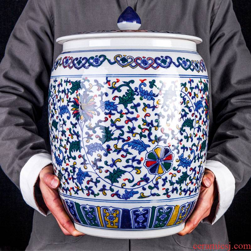 Jingdezhen ceramic home sitting room is blue and white color storage tank furnishing articles new Chinese decorative arts and crafts porcelain