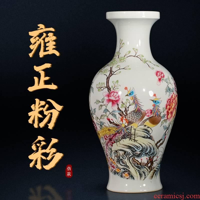 Jingdezhen ceramic vases, flower arrangement sitting room porch decoration of Chinese style household TV ark, China antique bottles
