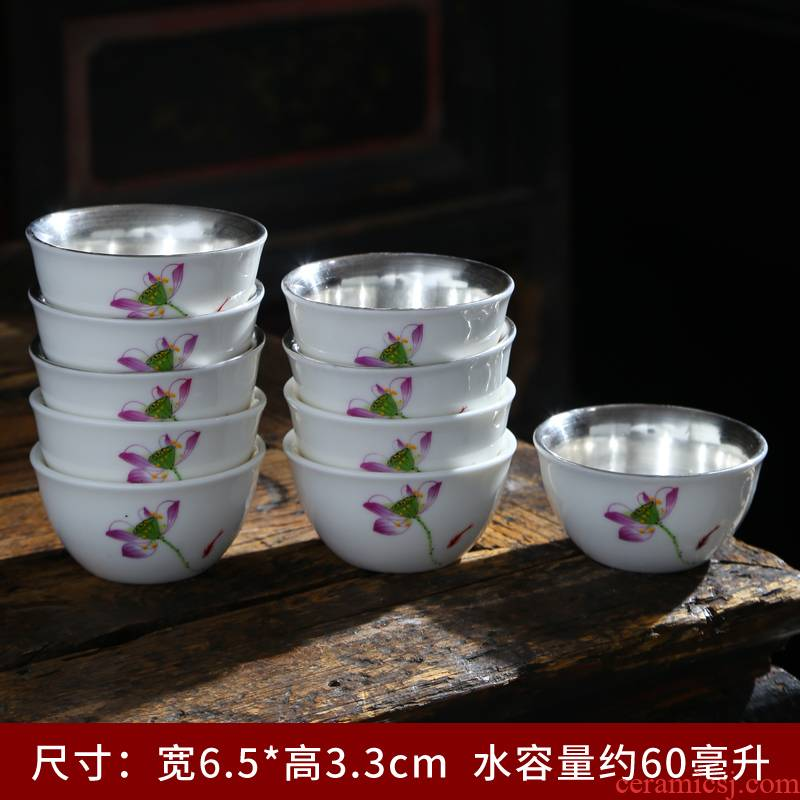 Dehua suet white jade porcelain teacup kung fu time single cups of tea tieguanyin tea bowl cups, sample tea cup