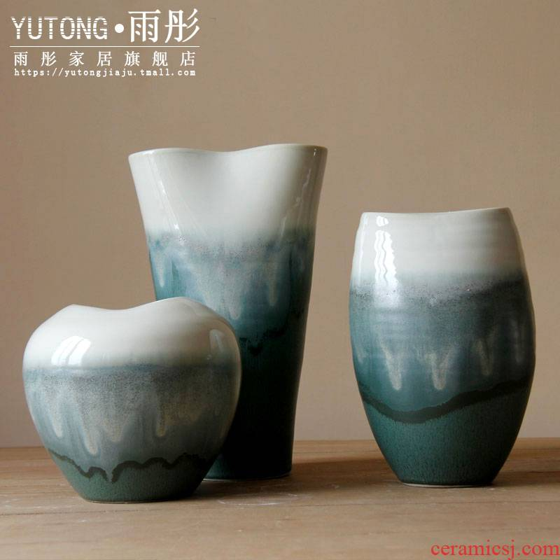 Rain tong household modern Chinese ceramic vase household act the role ofing is tasted decoration | jingdezhen ceramics furnishing articles can be hydroponics