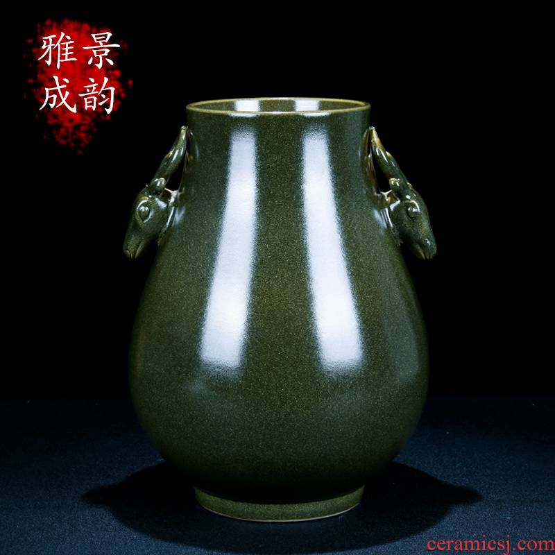Jingdezhen ceramic I and contracted tea deer statute of vase decoration at the end of the porch place household porcelain gifts