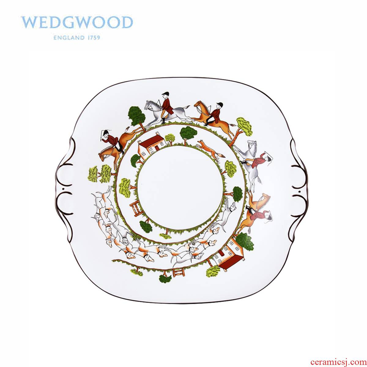 Wedgwood waterford Wedgwood Hunting Scene Hunting high - grade ipads porcelain of bread plate tableware series