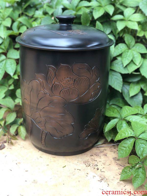Take a yunnan jianshui purple pottery caddy fixings large seal pot pu 'er bread seven of nine cakes tea urn home and POTS