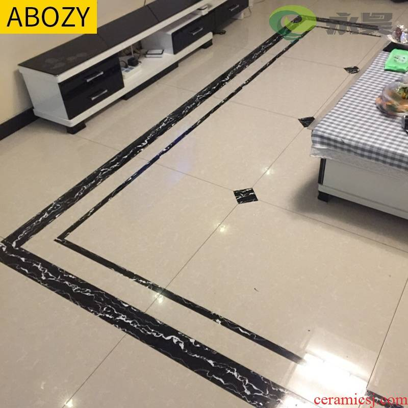 A Boundary between the ground tile decorative stickers beauty seam an agent ceramic tile floor tile special stickers border corridor decorates to living room