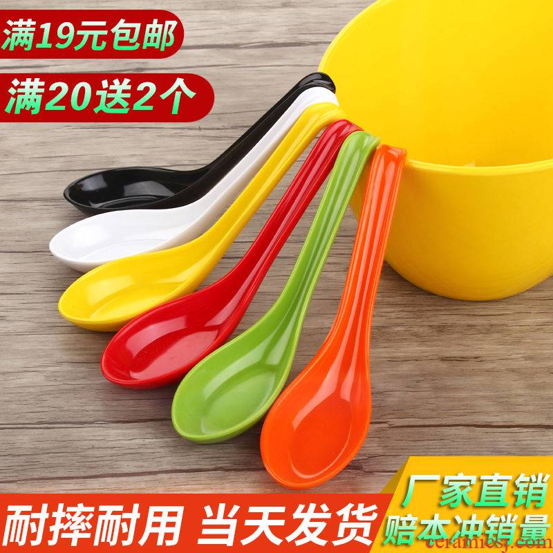 Plastic spoon, household color melamine belt hook run tile - like ladles such malatang ltd. spoon, spoon