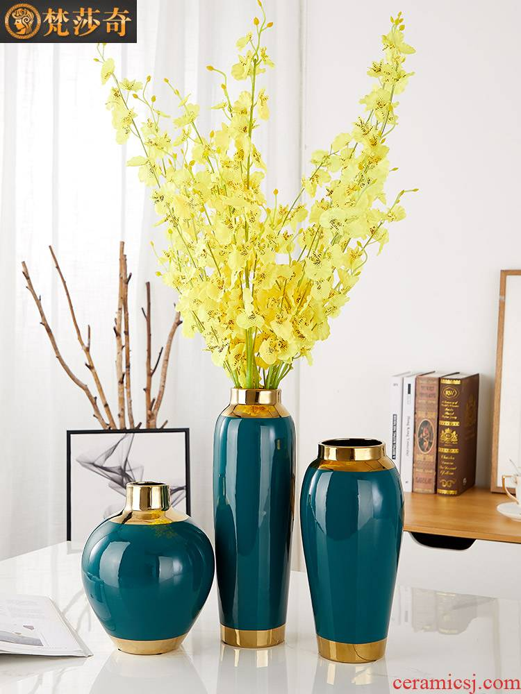 Nordic vase furnishing articles creative living room contracted flower arranging ceramic dry flower adornment TV ark, household decoration of Chinese style