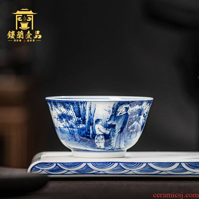 All hand - made porcelain of jingdezhen ceramics gathering masters cup kung fu tea tea bowl cups individual household single CPU