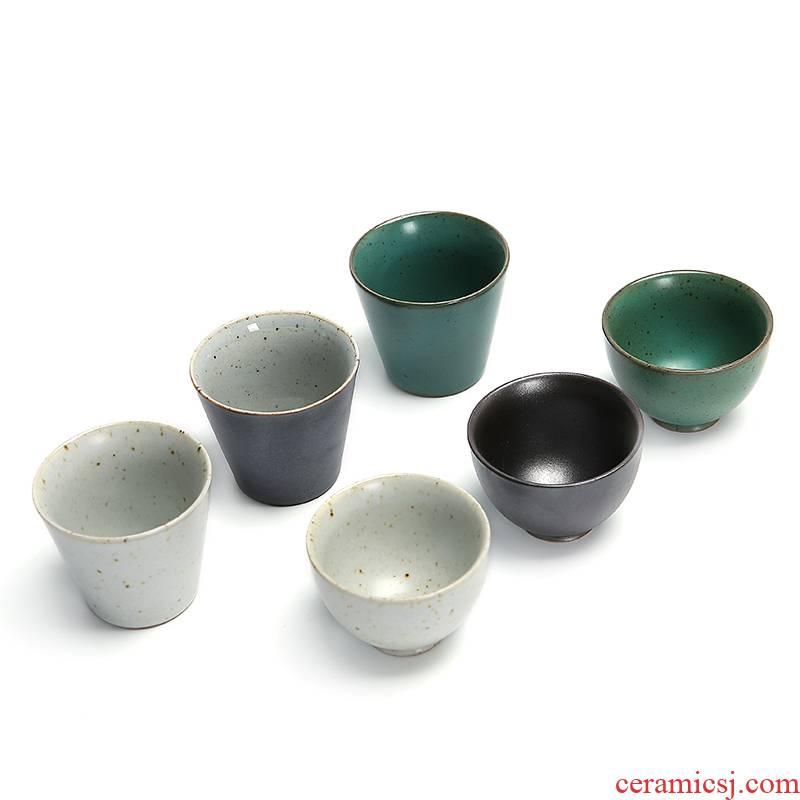 Kung fu tea ceramic tea set master cup personal cup pu single cup, small cup home kit sample tea cup