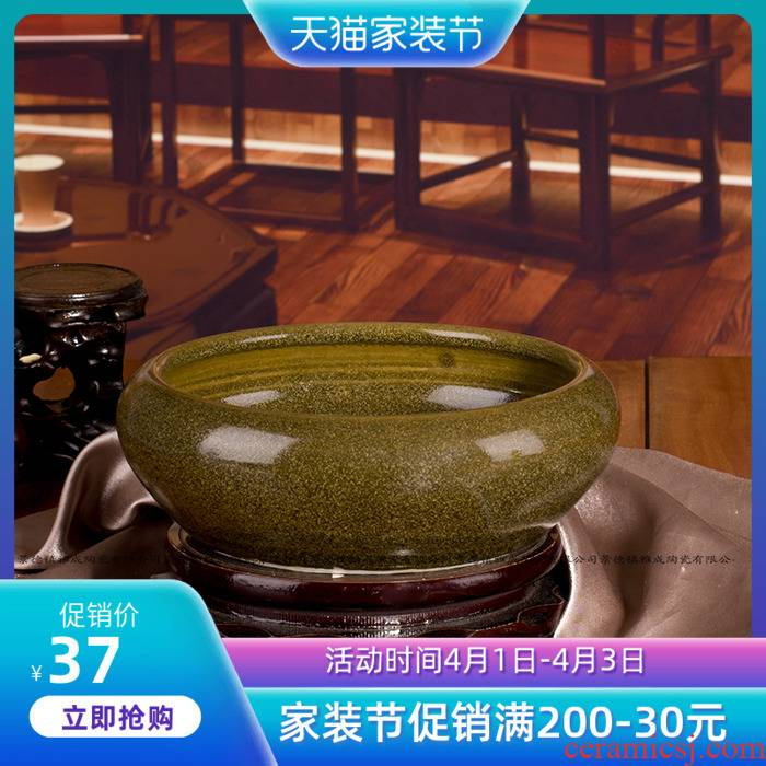 Jingdezhen ceramics by hand at the end of the tea glaze antique pen XiCha wash the ashtray fashion furnishing articles of handicraft