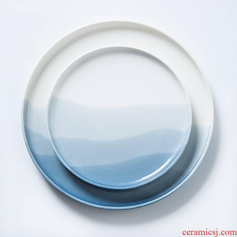 Lototo Japanese household ceramic bowl bowl tableware creative nice bowl ikea single rainbow such use large soup bowl