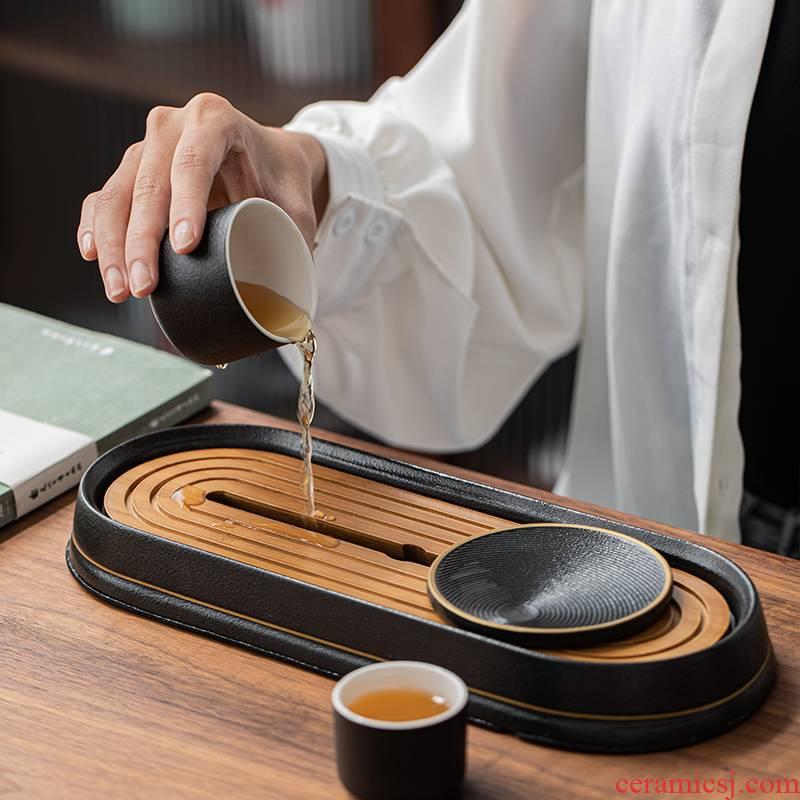 Porcelain heng tong ET creative tea tray ceramic dry pallet storage type tea sets tea sea household kung fu tea accessories