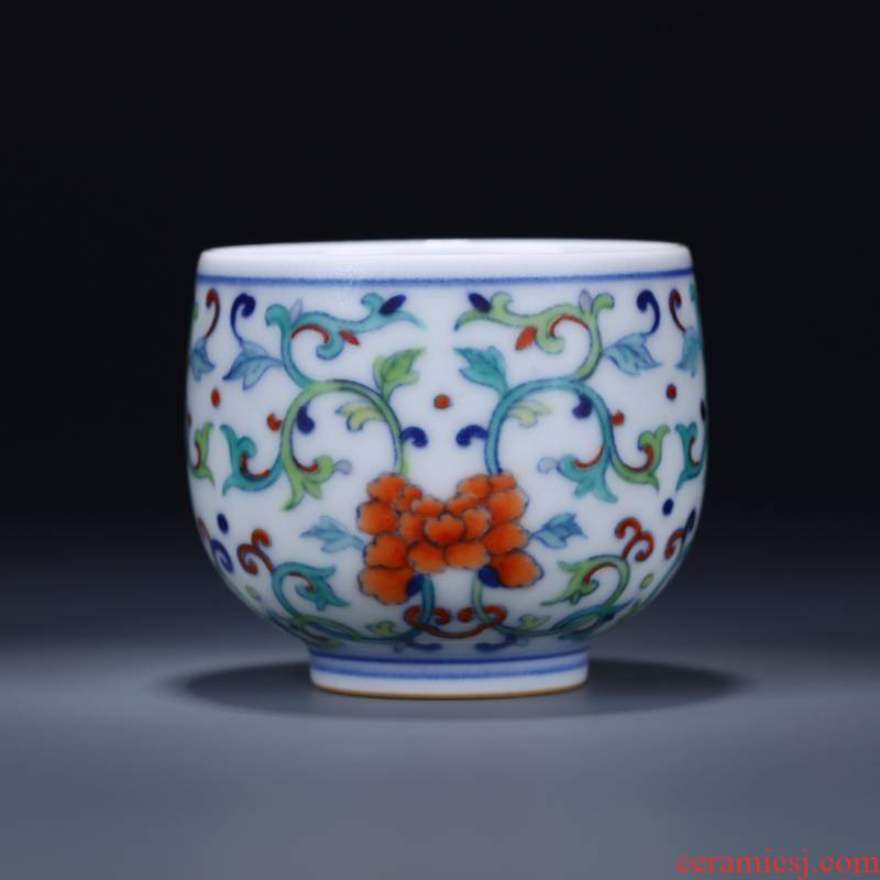 Offered home - cooked ceramic sample tea cup in hand - made color blue and white porcelain bowl with jingdezhen porcelain cups tea bucket tea handless small