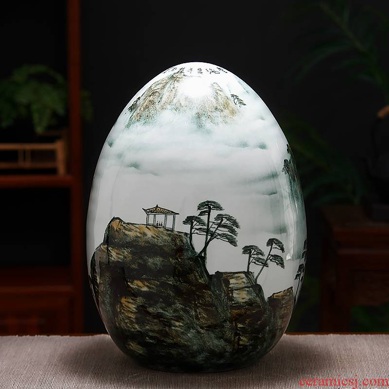 Jingdezhen ceramics new Chinese vase landscape blessed dense eggs home rich ancient frame TV ark, sitting room adornment is placed