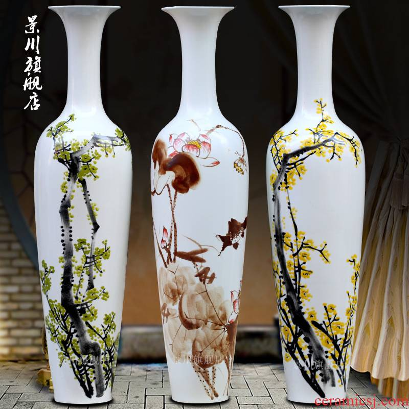 Jingdezhen hand - made ceramic be born pure and fresh and contracted fine big vase household porcelain of I sitting room place flower arrangement