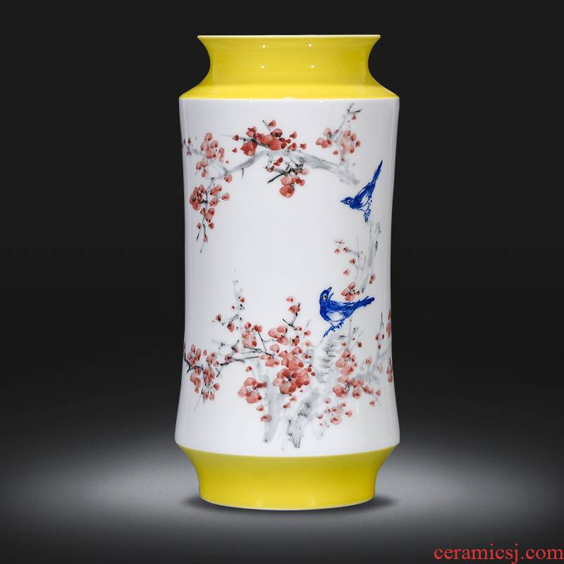 Jingdezhen ceramics hand - made vases, flower arranging dried flowers of modern Chinese style household furnishing articles sitting room adornment handicraft