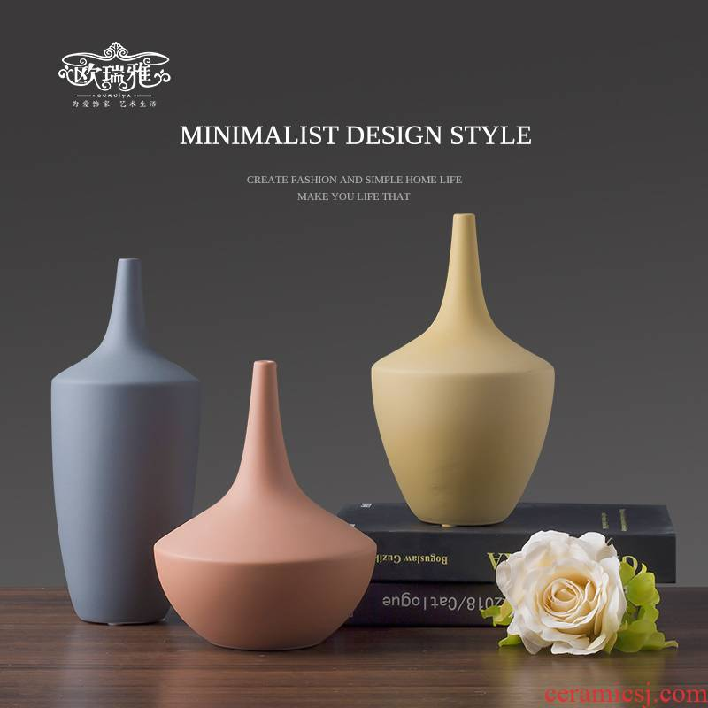 Nordic contracted morandi, ceramic vases, furnishing articles sitting room the bedroom TV ark, porch modern creative decorations
