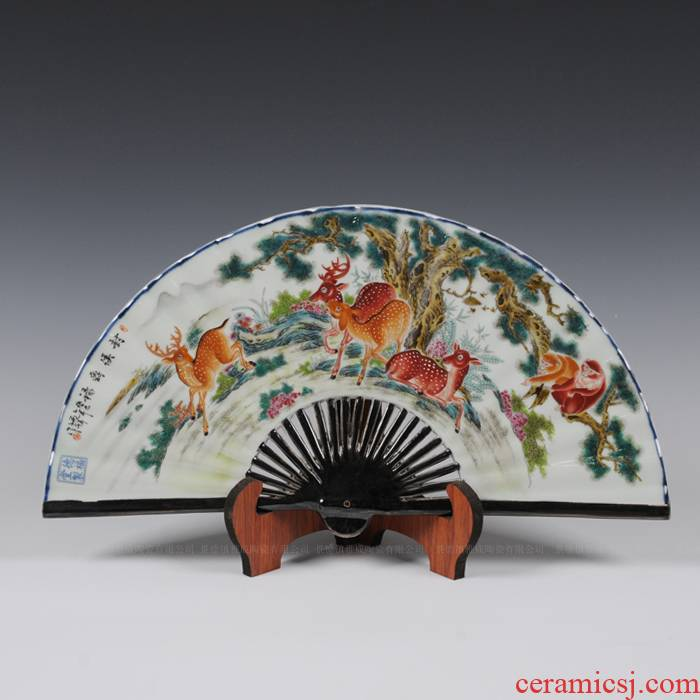 Pastel furnishing articles famous masterpieces fan screen hand - made ceramics powder enamel the ancient philosophers antique porcelain picture to leadership