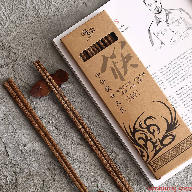 Tao soft home chicken wings with lacquer idea for high - grade wooden chopsticks, ten double suit single Japanese wooden chopsticks, wooden chopsticks