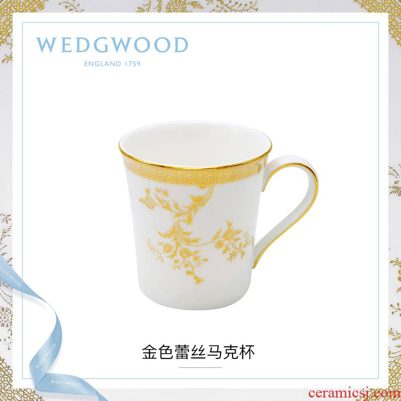 WEDGWOOD waterford WEDGWOOD Vera Wang Vera Wang gold lace mugs ipads China cups water cup