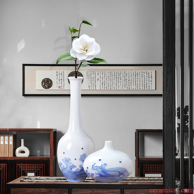 Jingdezhen ceramics creative hand - made mini floret bottle of flower arranging new Chinese style household adornment furnishing articles in the living room