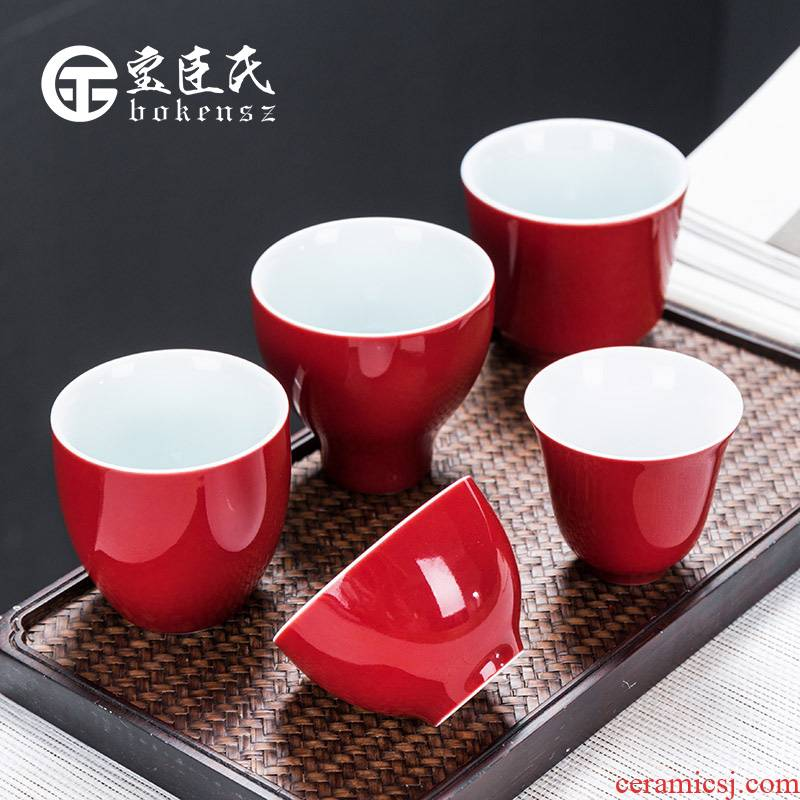 Ceramic kung fu tea cups at upstream of the master single cup tea bowl sample tea cup tea sets