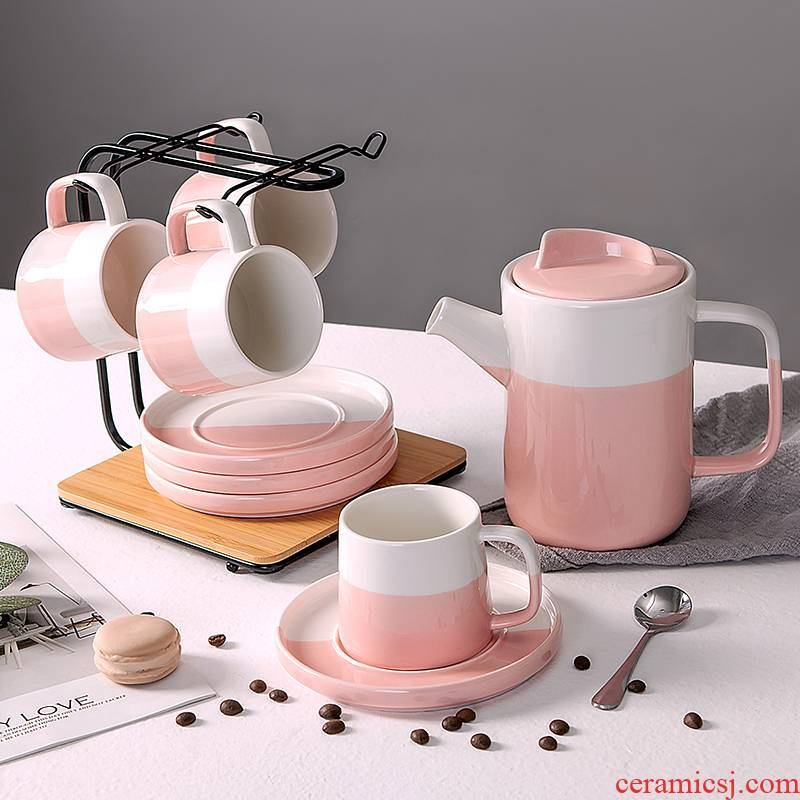 Home sitting room coffee cup suit Nordic coffee cups and saucers suit ceramic water with a cup of afternoon tea tea set