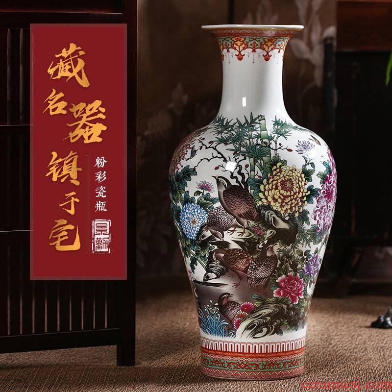 375 jingdezhen ceramic vases, large sitting room of famille rose porcelain vase landing furnishing articles home decorative arts and crafts