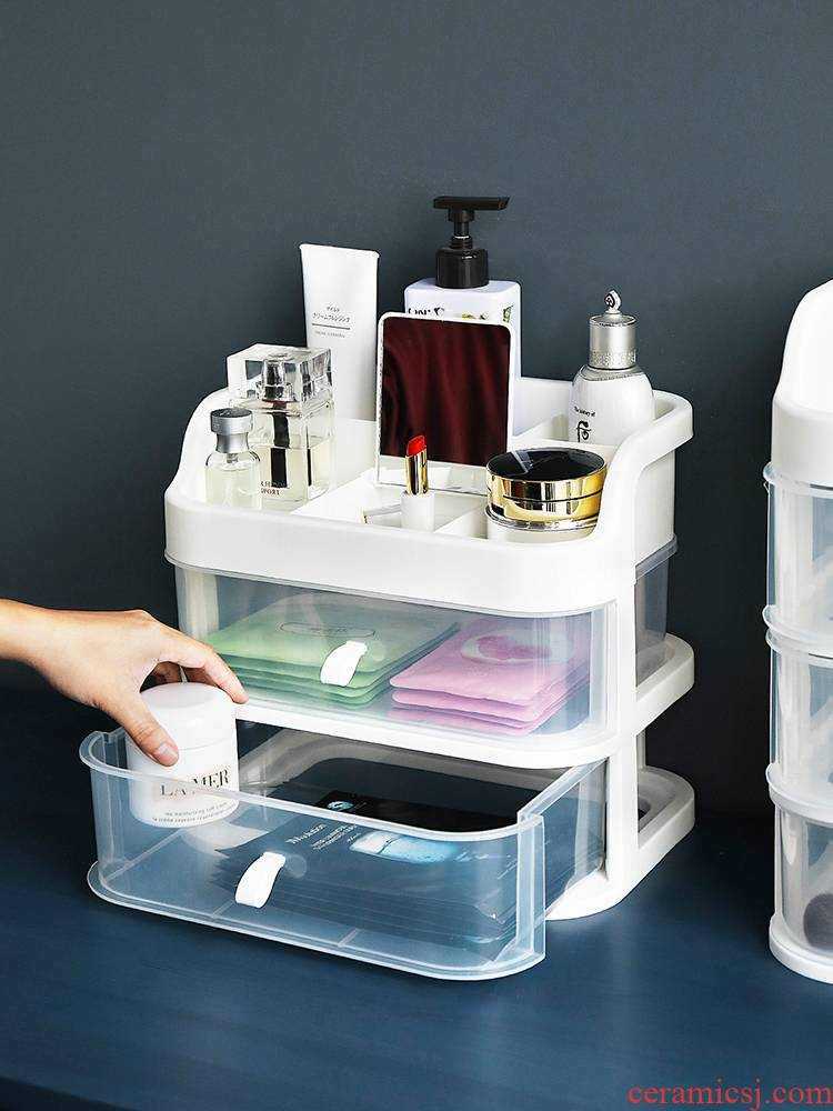 Porcelain color beauty web celebrity cosmetic boxes transparent dust - proof desk drawer dresser shelf protects skin to taste