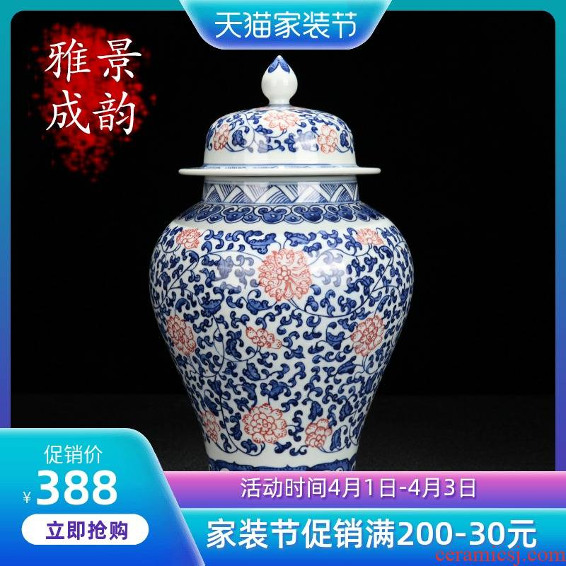 The New Chinese blue and white porcelain of jingdezhen ceramics youligong general pot home sitting room porch porcelain decorative furnishing articles