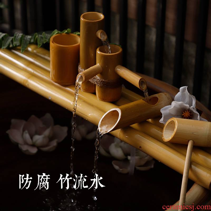 Ceramic pump with water tank water altar zen the boy running water pipe connecting the gourd shape monk