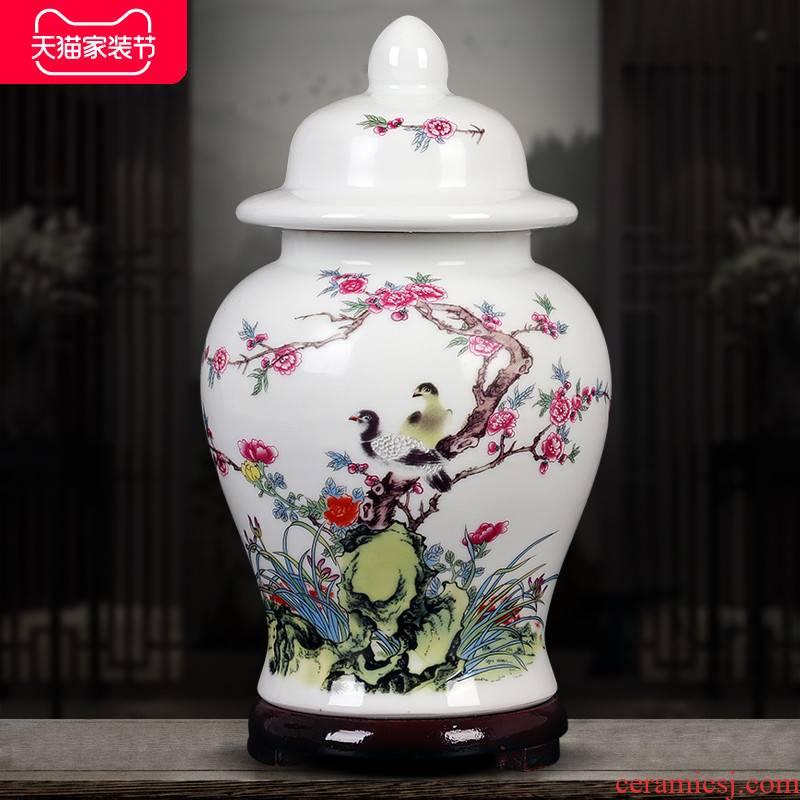 Jingdezhen ceramic tea pot seal pot POTS household saving POTS storage tanks, green tea, black tea pu - erh tea POTS