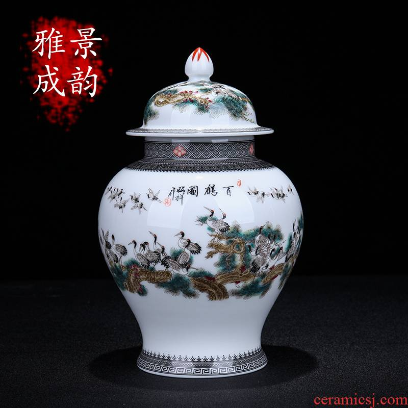 I and contracted the jingdezhen ceramics general crane figure can decorate place to live in the sitting room porcelain arts and crafts
