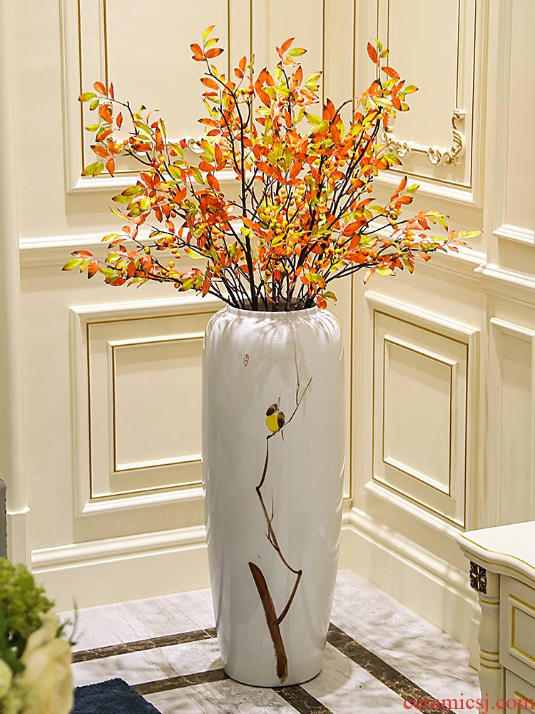 New Chinese style of jingdezhen ceramic vase contracted sitting room dry flower arranging flowers floor vase decoration flower implement furnishing articles