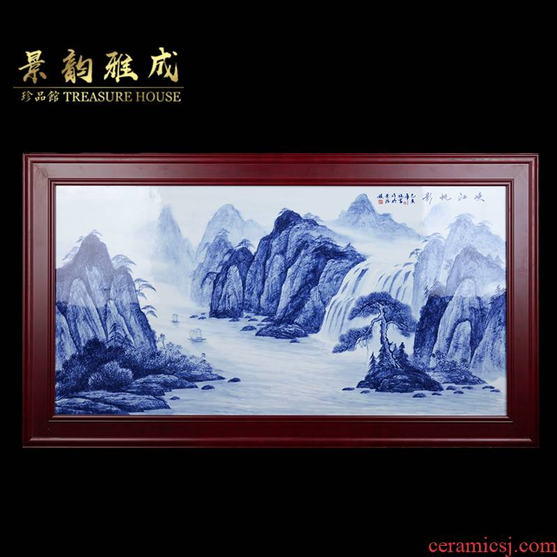 Jingdezhen ceramic I and contracted fjard FanYing sitting room sofa background wall decoration painting porcelain plate